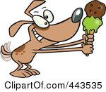 dog eating ice cream