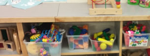 Some of the materials that the children can experience at Strong Start.